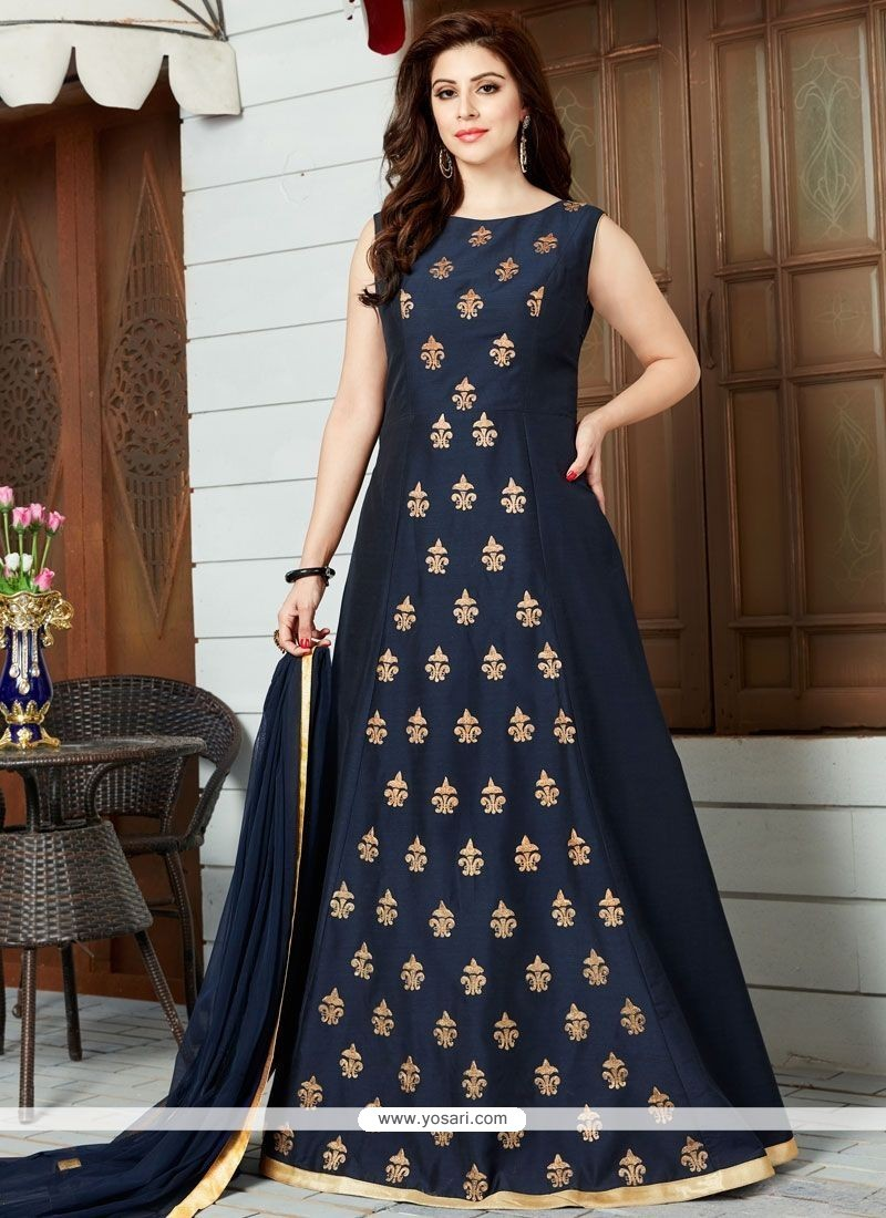 Energetic Cotton Silk Floor Length Anarkali Suit