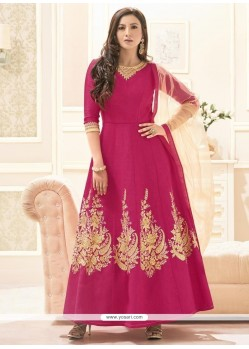 Gauhar Khan Stone Work Floor Length Anarkali Suit