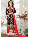 Mystic Lace Work Chanderi Churidar Suit