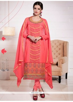 Marvelous Peach Churidar Suit