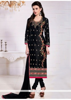 Gleaming Cotton Resham Work Churidar Suit