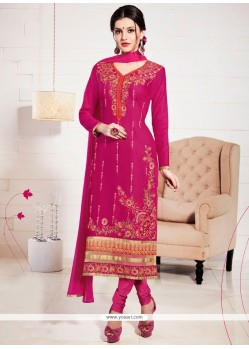 Exceptional Cotton Resham Work Churidar Suit