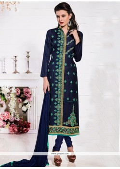 Extraordinary Navy Blue Churidar Suit