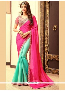 Classical Half N Half Designer Saree For Party