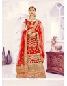 Sophisticated Resham Work Red Net A Line Lehenga Choli