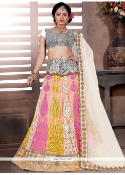 Ruritanian Net Multi Colour Lehenga Choli