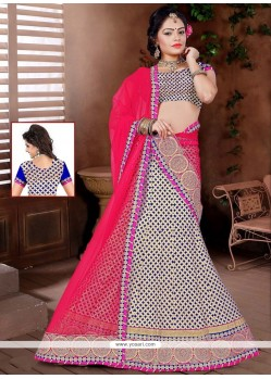 Imposing Net Lace Work Lehenga Choli