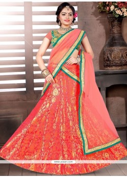 Savory Orange Designer Lehenga Choli