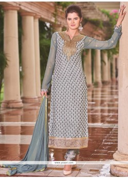 Striking Resham Work Churidar Designer Suit