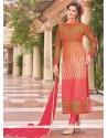 Divine Multi Colour Lace Work Churidar Designer Suit