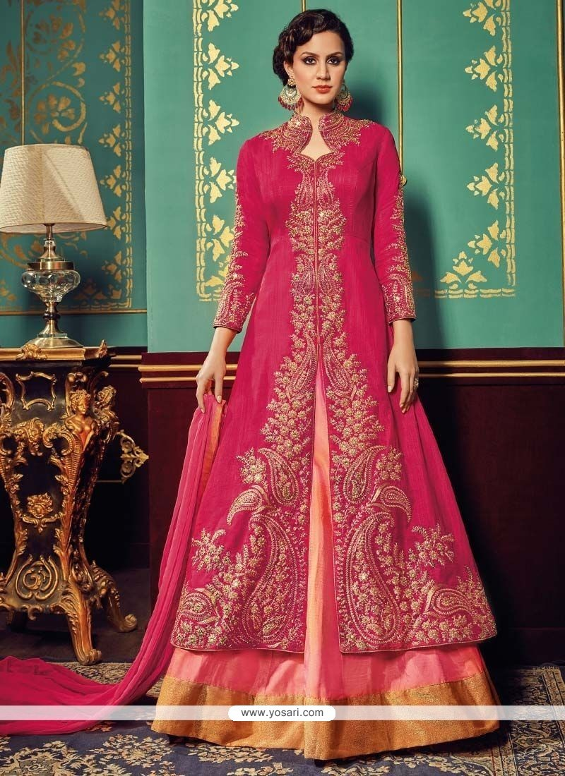 Mesmeric Resham Work Floor Length Designer Suit