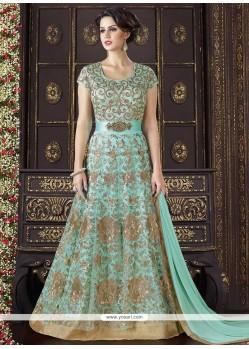 Adorning Net Floor Length Anarkali Suit