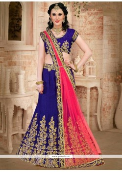 Beauteous Art Silk Embroidered Work Lehenga Choli