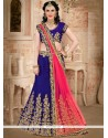 Beauteous Art Silk Embroidered Work Lehenga Choli