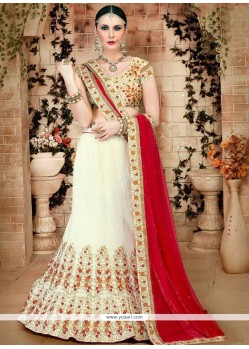 Girlish Art Silk Patch Border Work Lehenga Choli