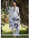Imperial Print Work Off White Churidar Designer Suit
