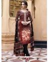 Best Faux Crepe Print Work Churidar Designer Suit