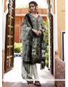 Outstanding Faux Crepe Churidar Designer Suit