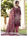 Vibrant Multi Colour Print Work Faux Crepe Churidar Designer Suit