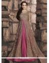 Whimsical Art Silk Floor Length Designer Suit