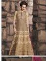 Irresistible Lace Work Faux Georgette Floor Length Anarkali Suit