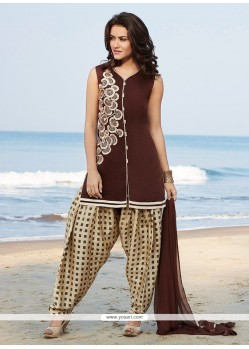 Trendy Brown Readymade Suit