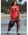Glitzy Rose Pink Readymade Suit