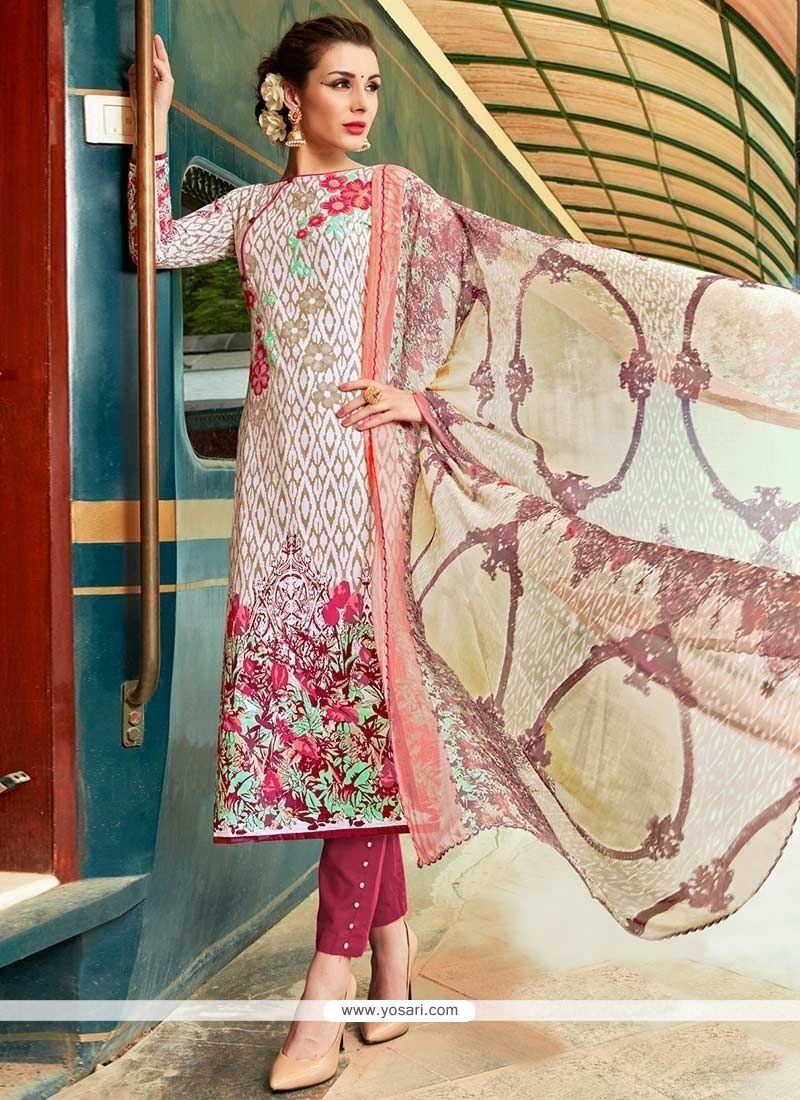 Mesmeric Cotton Multi Colour Digital Print Work Pant Style Suit