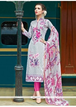 Dignified Cotton Multi Colour Pant Style Suit