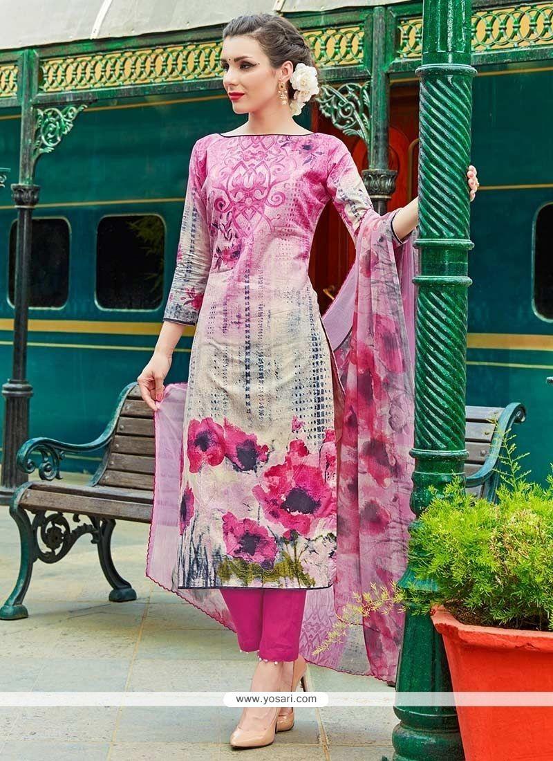 Ethnic Cotton Pant Style Suit