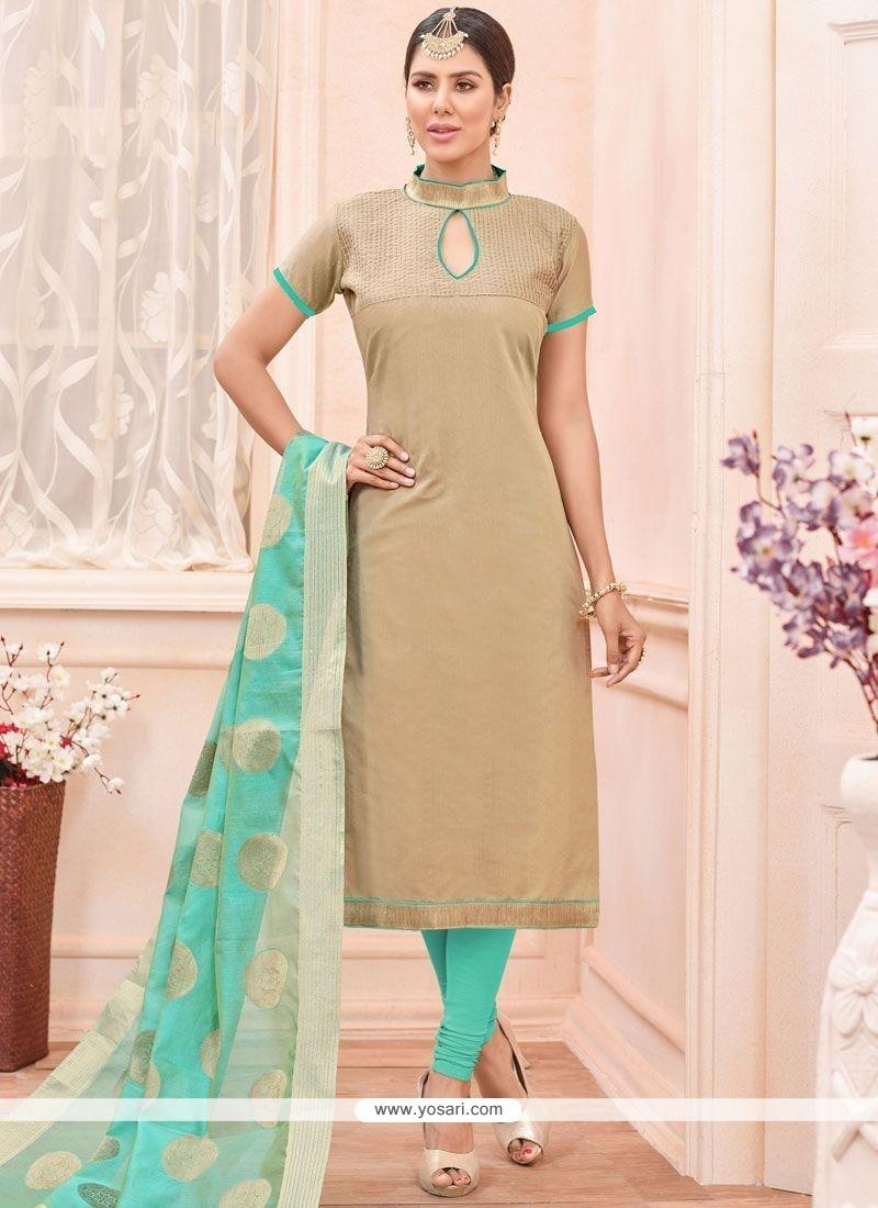 Adorning Beige Churidar Suit