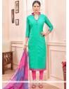 Perfervid Lace Work Churidar Suit