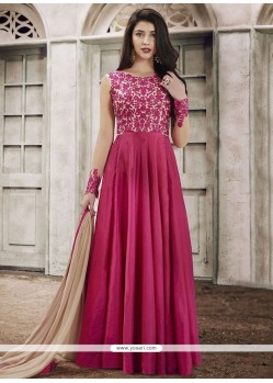 Charming Art Silk Lace Work Floor Length Anarkali Suit