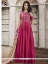 Charming Art Silk Lace Work Floor Length Anarkali Suit