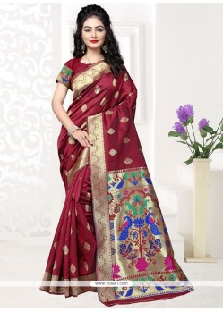 Orphic Maroon Designer Traditional Saree