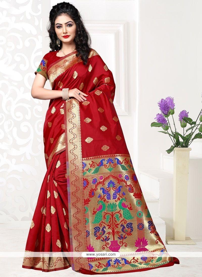 Ravishing Art Silk Designer Traditional Saree