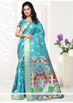 Stylish Art Silk Weaving Work Traditional Designer Saree