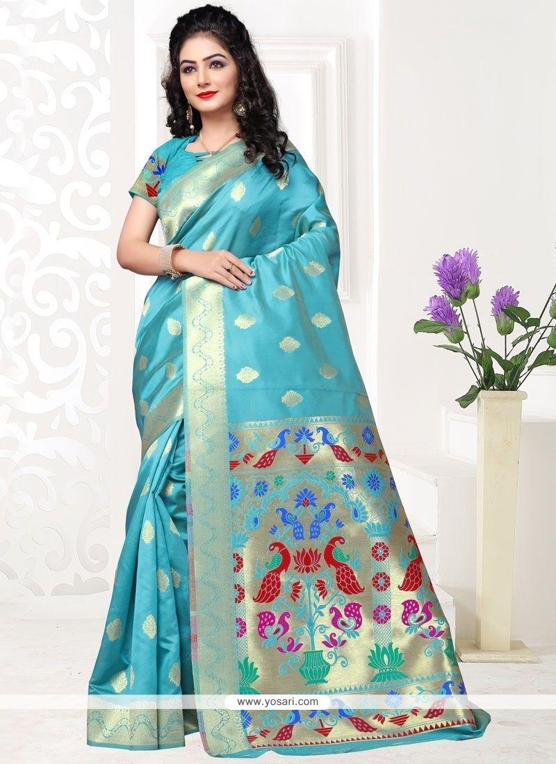 Stylish Art Silk Weaving Work Traditional Designer Saree