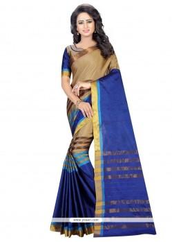 Girlish Blue Casual Saree