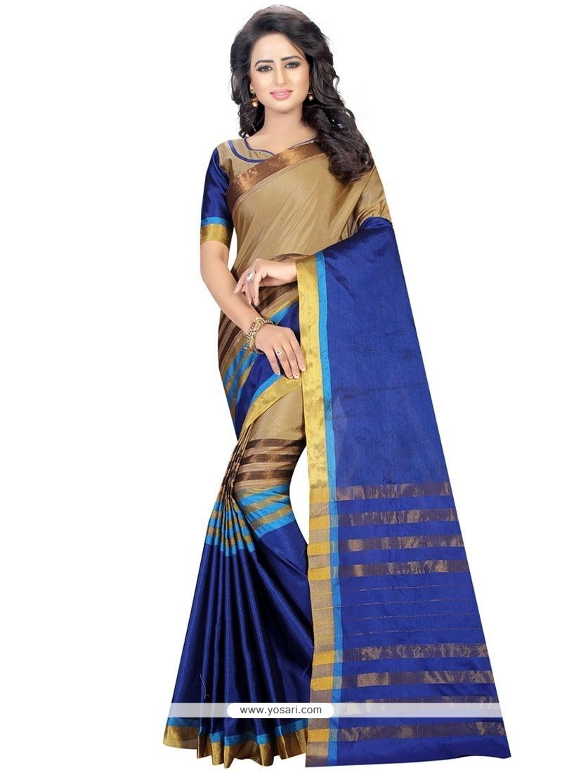 Girlish Blue Casual Saree