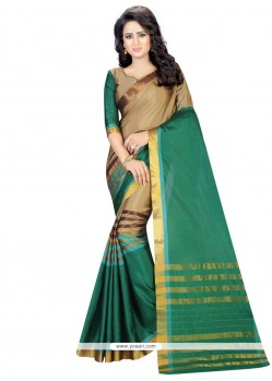 Catchy Green Casual Saree