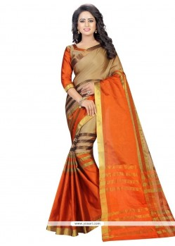 Artistic Woven Work Cotton Casual Saree