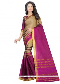 Extraordinary Cotton Woven Work Casual Saree