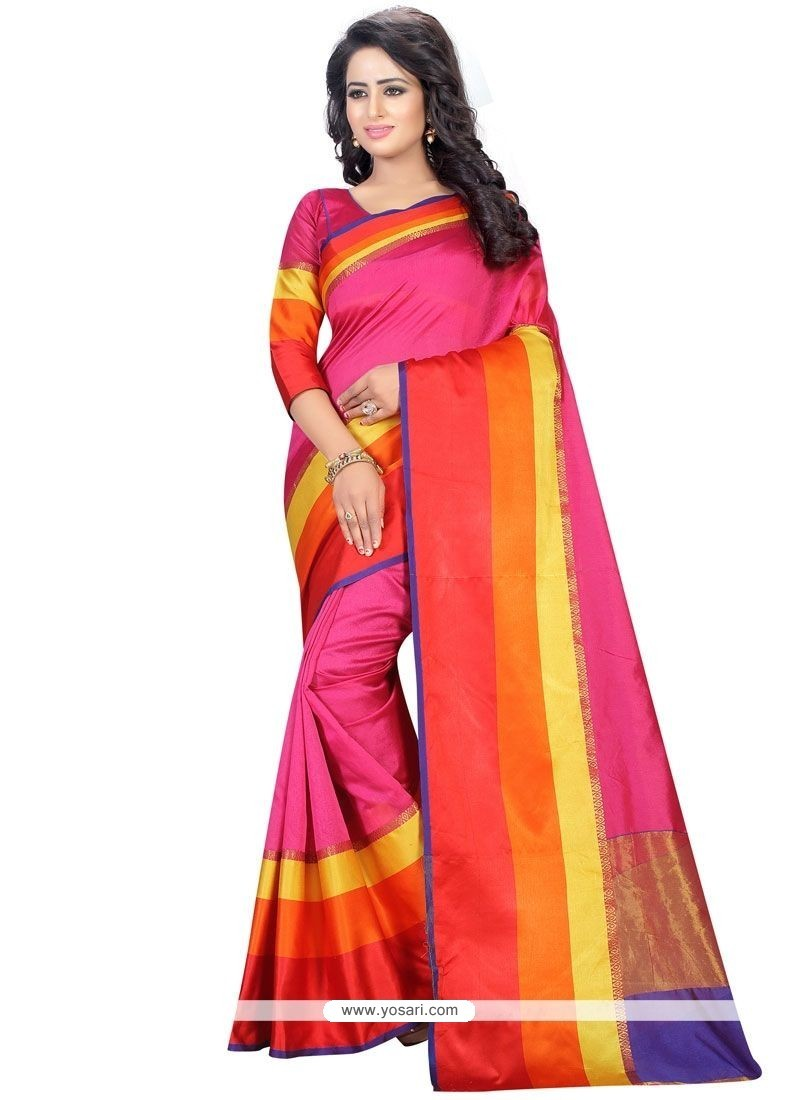 Exotic Cotton Woven Work Casual Saree