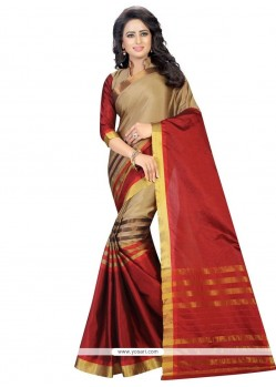 Bedazzling Cotton Casual Saree