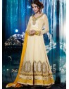 Yellow Shade Georgette Anarkali Suit