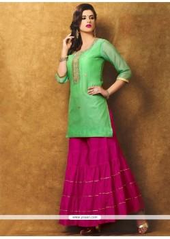 Winsome Hand Work Work Chanderi Designer Suit