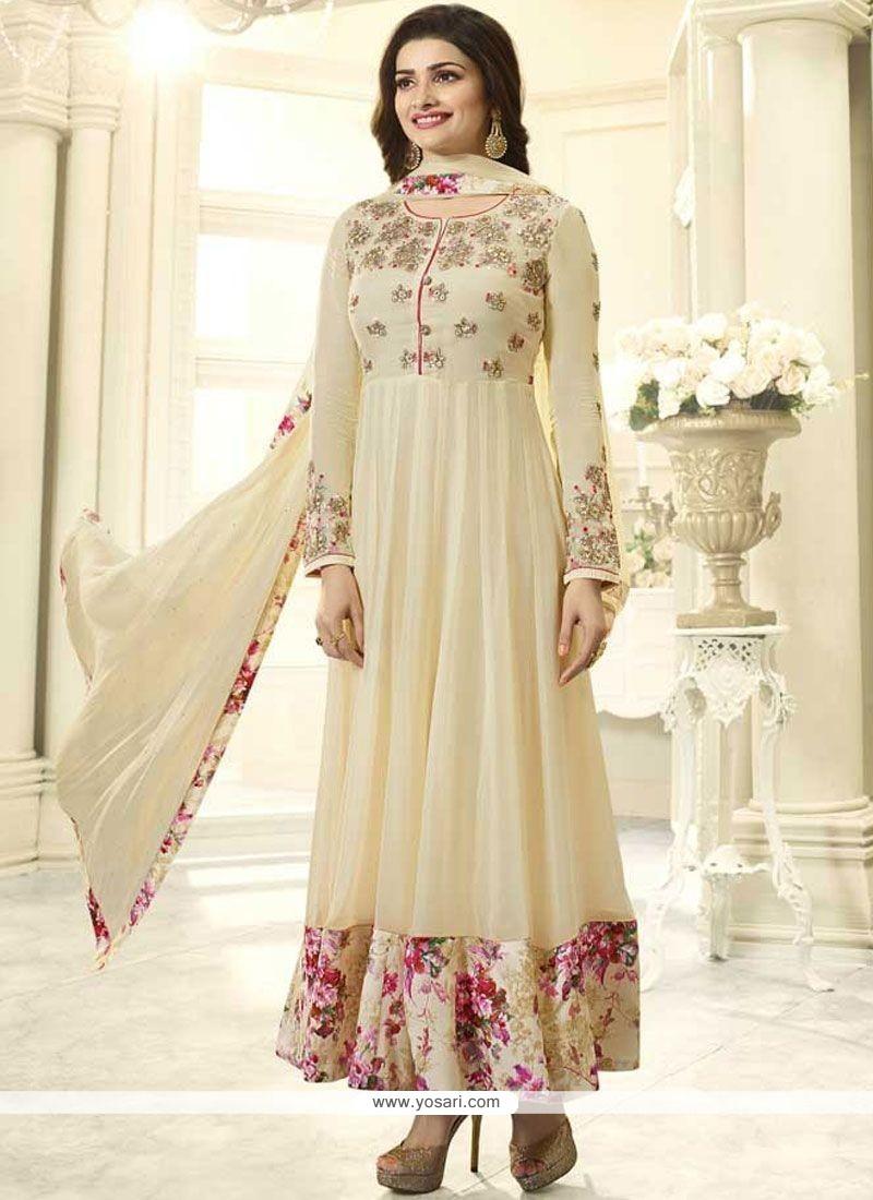 b237cb8ddb Buy Prachi Desai Faux Georgette Embroidered Work Anarkali Salwar ...