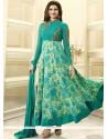 Prachi Desai Sea Green Faux Georgette Anarkali Suit
