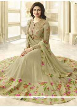 Prachi Desai Green Embroidered Work Anarkali Suit